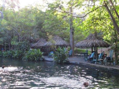 Natural volcanic pools