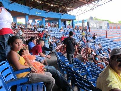 At the baseball game in Granada