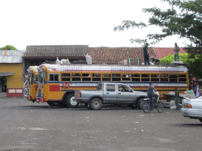 People on the roof of a bus - a normal sight in Latin America