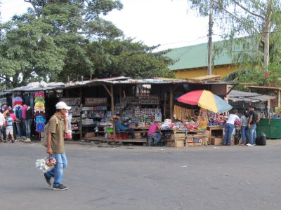 Some of the many street stalls in León