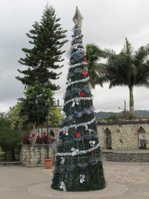 Christmas tree in Copán Ruinas