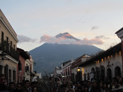 An amazing view from the streets of Antigua