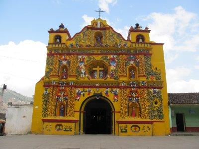 Yellow church in San Andrés Xecul