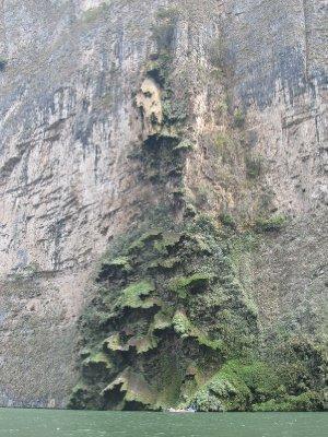 'Christmas Tree' formation in the Cañon del Sumidero