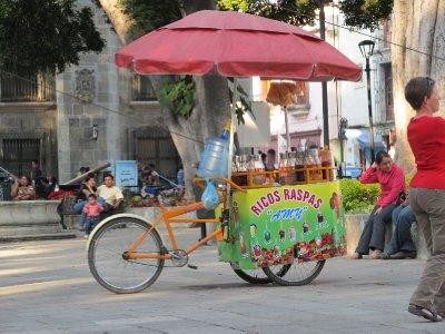 One of the many foodstalls in Oaxaca