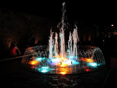 Fountain light and music show in Campeche