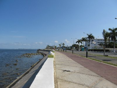 The Malecón in Campeche