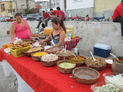 Street food in Flores