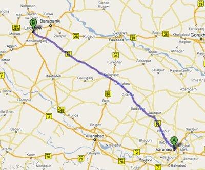 Luckhnow to Varanasi