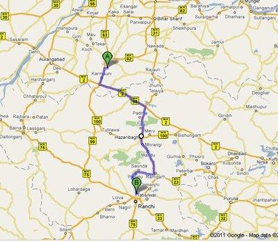 BodhGaya to Ranchi