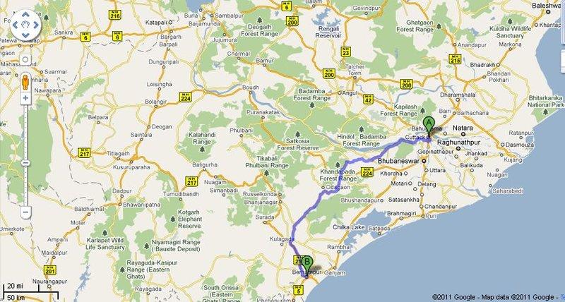 Cuttack to Berhampur