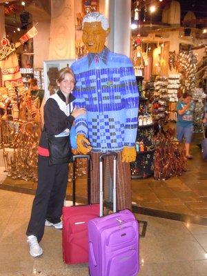 Tash at the airport