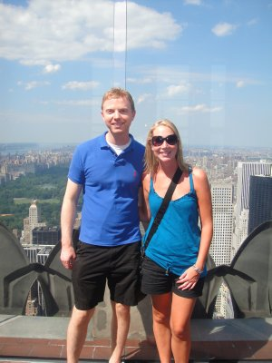 DAVE AND ASH AT TOP OF THE ROCK