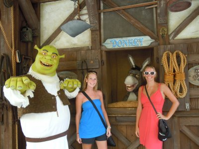 SHREK, DONKEY AND TASHLEY
