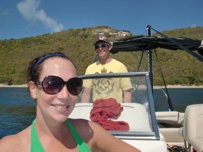 ASH AND BVI GRAHAM ON THE BOAT