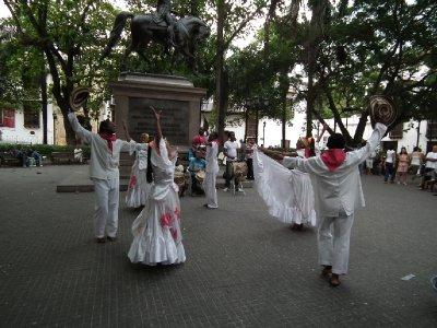Dancing in Plaza de Bolivar
