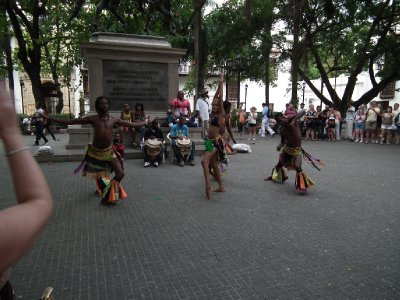 A danced with more African influences