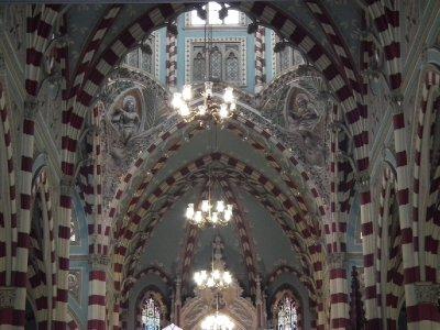 Inside the stripy church