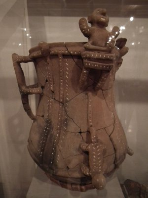 Pot from one of the burial chambers