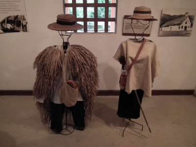 Traditional Tierradentro dress, the rushes act as a raincoat