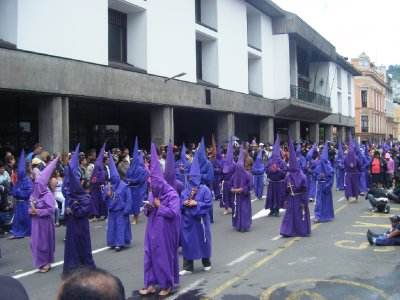The purple robed men