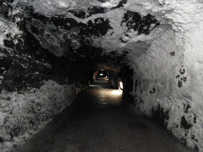 Entering the salt mine