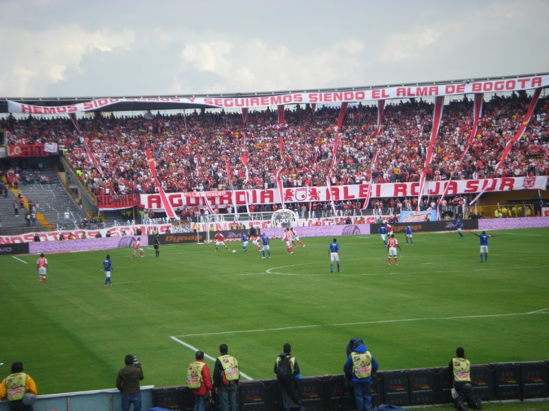 The match and Santa Fe stands