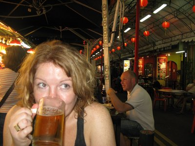 Tiger beer and crispy squid
