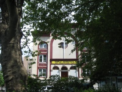 first a synagogue, now a spanish 7th day adventist church.  lower east side neighborhood changes