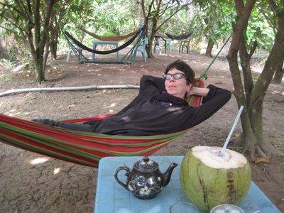 hammock after conconut juice