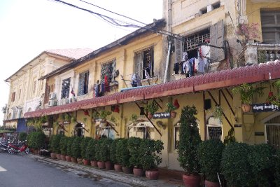 French Colonial building divided residential and commercial