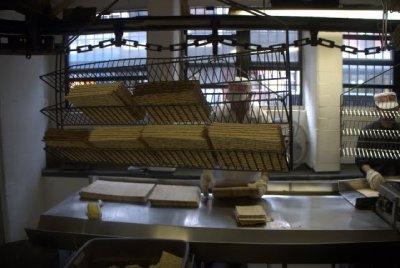 packing matzoh.  streit's factory