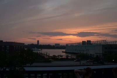 from the highline at sunset