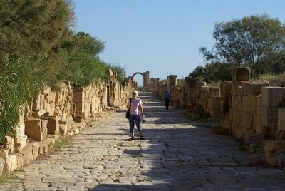 Leptis Magna: Paved Street