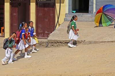 School Children at Gorkha