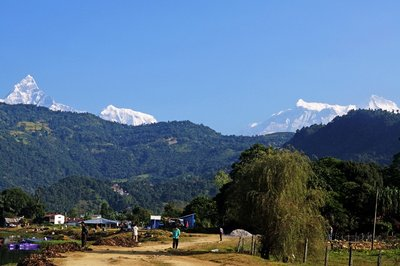 Annapurna and Manaslu Mountains