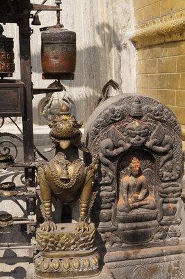 Swayambunath Statues
