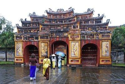 Hué Citadel - Decorated Gateway