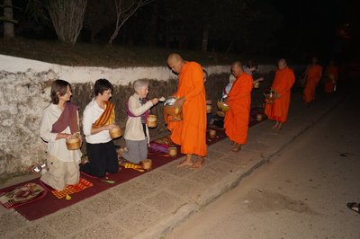 Sticky Rice Offering to the Monks