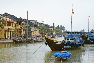Hoi An - Riverfront and Boats