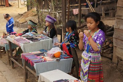 Hmong Village and Children