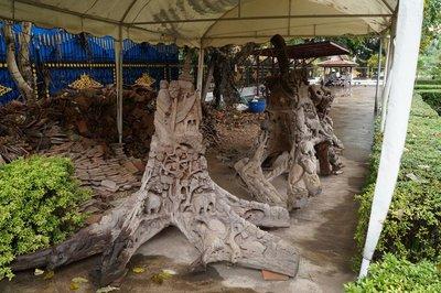 Haw Pha Kaew - Carved Trees