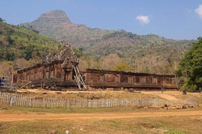 Sandstone Structure and Mount Lingaparvata