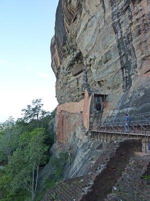 Access to the Sigiriya Damsels Cave