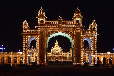 Mysore Maharaja's Palace at Night