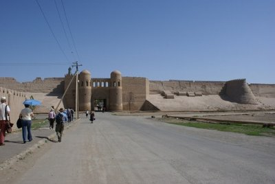Khiva with its Wall