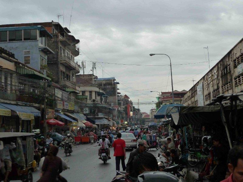 Crazy street in Phnom Penh