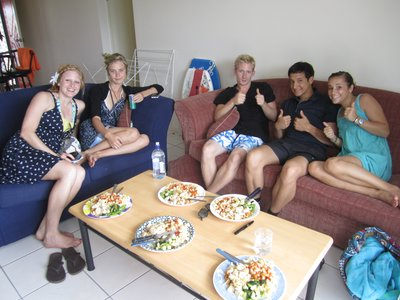 The wonderful lunch Willy made for us all
