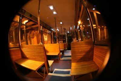 inside of the cable car