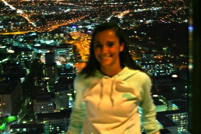me at the top of the sky tower